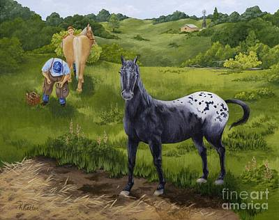 Painting - My Appaloosa by Kathleen Keller