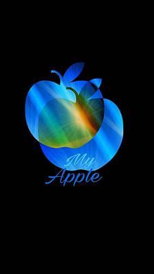 Digital Art - My Apple by Gayle Price Thomas