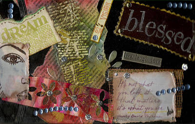 Mixed Media - My Art Journal - Blessed by Angela L Walker