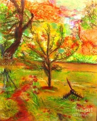 My Art Teacher's Crab Apple Tree Art Print by Helena Bebirian