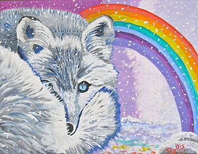 Painting - My Artic Fox by Phyllis Kaltenbach