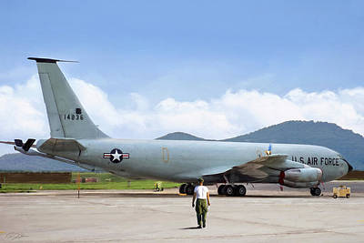 Vietnam War Digital Art - My Baby Kc-135 by Peter Chilelli