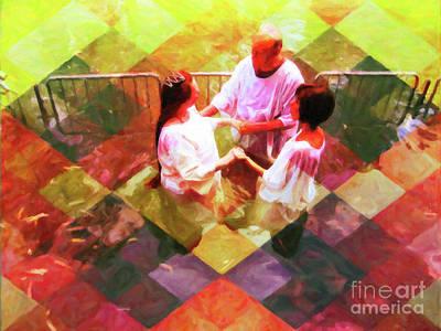Digital Art - My Baptism Check Mate by Donna L Munro