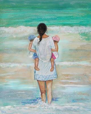 Painting - My Beach Buddies by Leslie Allen