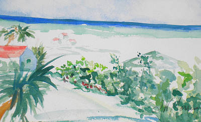 My Beach Cottage In Siesta Key Art Print
