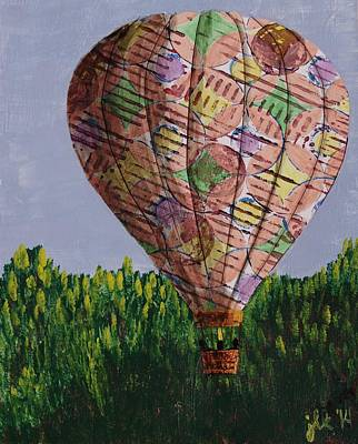 Painting - My Beautiful Balloon by Lori Kingston