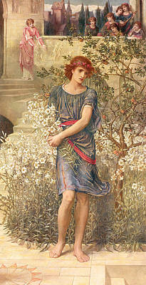 Medieval Painting - My Beloved Has Gone Down To His Garden by John Melhuish Strudwick