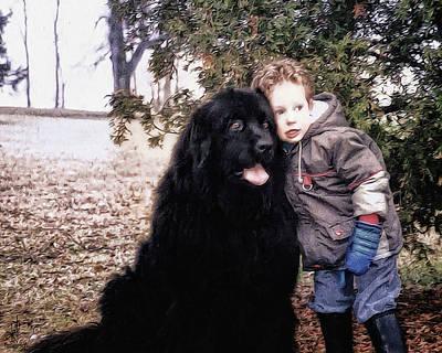 Newfoundland Puppy Photograph - My Best Friend by Pennie  McCracken