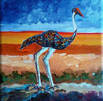 Painting - My Bird 2 by Ray Khalife