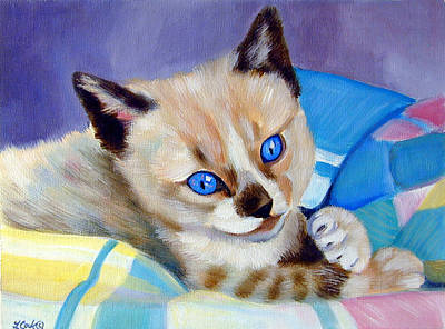 Painting - My Blankie by Lyn Cook