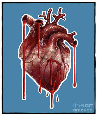 Digital Art - My Bleeding Heart by Andre Koekemoer