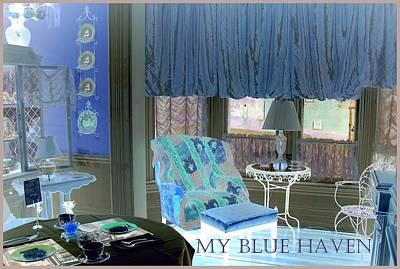 Animal Watercolors Juan Bosco - My Blue Haven by Jacqueline Manos