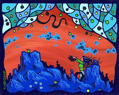 Pop Surrealism Painting - My Blue Heaven by Dan Keough