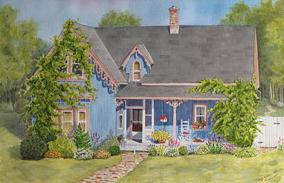 Painting - My Blue Heaven by Mary Ellen Mueller Legault