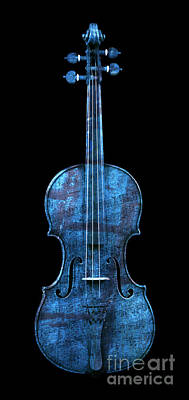 Photograph - My Blue Violin by John Stephens