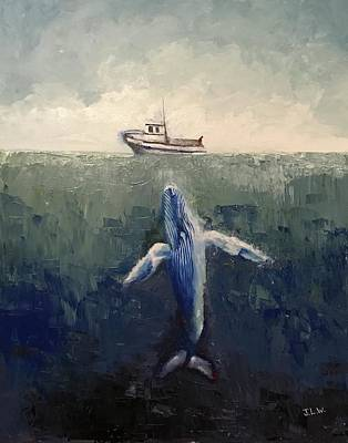 Painting - My Blue Whale by Justin Lee Williams