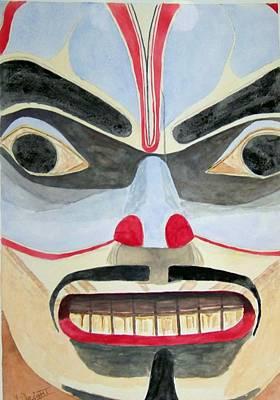 Alaska Totem Pole Painting - My Bodyguard by Larry Wright