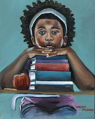 Back To School Painting - Her Books  by Jeremy Mccrary