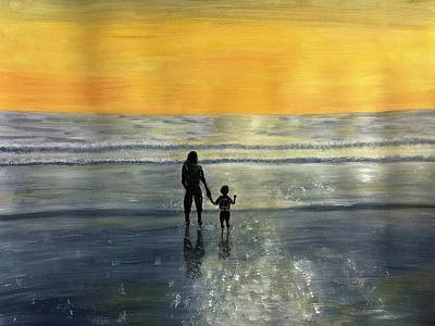 Painting - My Boy And I by Susan Abrams