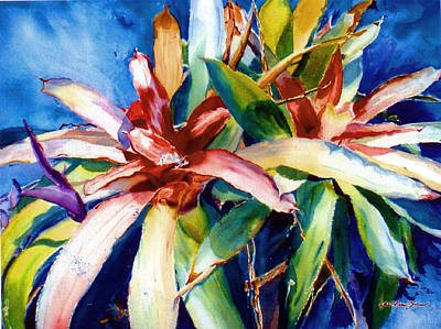 My Bromelias Art Print by Estela Robles