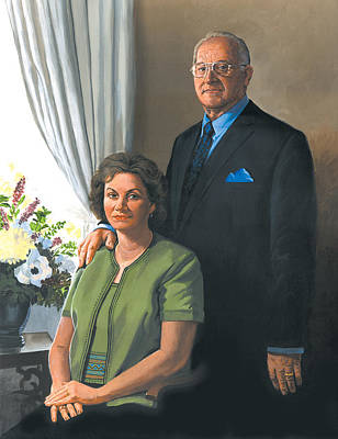 Portraits Painting - My Brother Ronnie And His Wife Maryann by Harold Shull