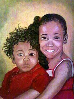 Keenya Woods Painting - My Brother's Keeper  by Keenya  Woods