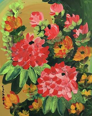 Painting - My Brush Sings In The Garden by Christina Schott