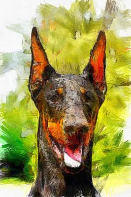 Friendly Digital Art - My Buddy by Anthony Caruso