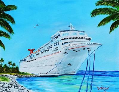 My Carnival Cruise Art Print by Lloyd Dobson