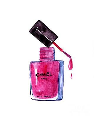 For Salons Painting - My Chanel  by Sweeping Girl