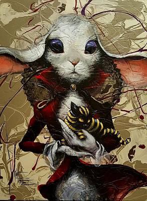 Alice In Wonderland Painting - My Cheshire by Kat Tatz