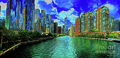 Photograph - My Chicago 16718 by Ray Shrewsberry