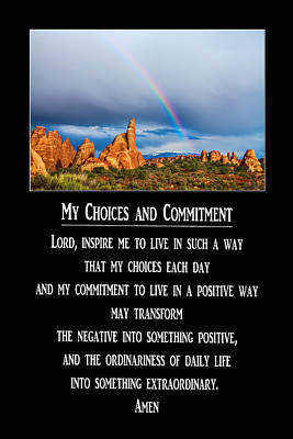 Photograph - My Choices And Commitment Prayer by James BO  Insogna