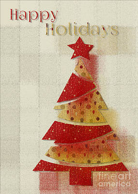 Print featuring the digital art My Christmas Tree 02 - Happy Holidays by Aimelle
