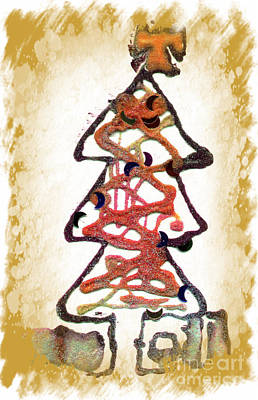 Mixed Media - My Christmas Tree by Angela L Walker