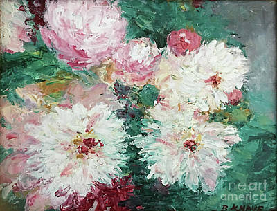 Painting - My Chrysanthemums by Barbara Anna Knauf