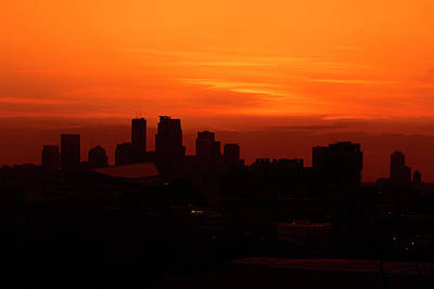 Photograph - My City At Sunset by Angela King-Jones