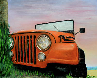 My Cj5 Print by Robert Tillberg