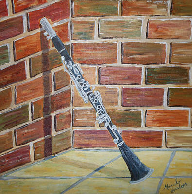 Marcelo Painting - My Clarinet by Marcelo Carlos