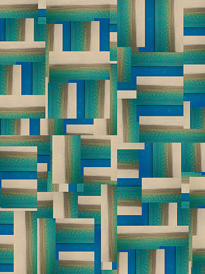 Block Quilts Digital Art - My Coastal Colors Harmony Inspire Your Home by Betsy Knapp