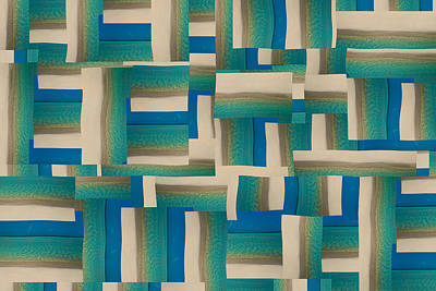 Block Quilts Photograph - My Coastal Colors Harmony Wave by Betsy Knapp