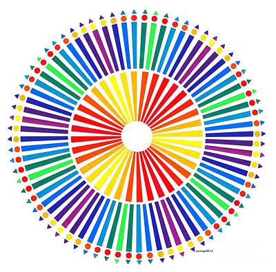 Op Art Mixed Media - My Color Wheel. by Nancy Mergybrower