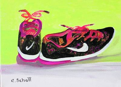 Painting - My Comfy Shoes by Christina Schott
