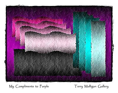 My Compliments To Purple Art Print by Terry Mulligan