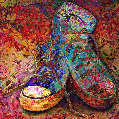 Sneakers Digital Art - My Cool Sneakers by Barbara Berney