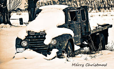 Anne Geddes Large Format Polaroids - My Country Christmas Truck by Image Takers Photography LLC - Laura Morgan