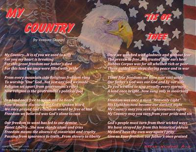 Painting - My Country Tis Of Thee by Kathleen Luther