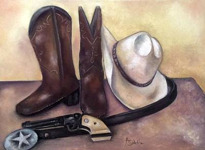 Painting - My Cowboy's Home by Annamarie Sidella-Felts