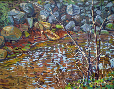 Painting - My Creek by Donald Maier