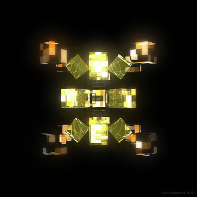 Glass Wall Art - Digital Art - My Cubed Mind - Frame 085 by Jules Gompertz